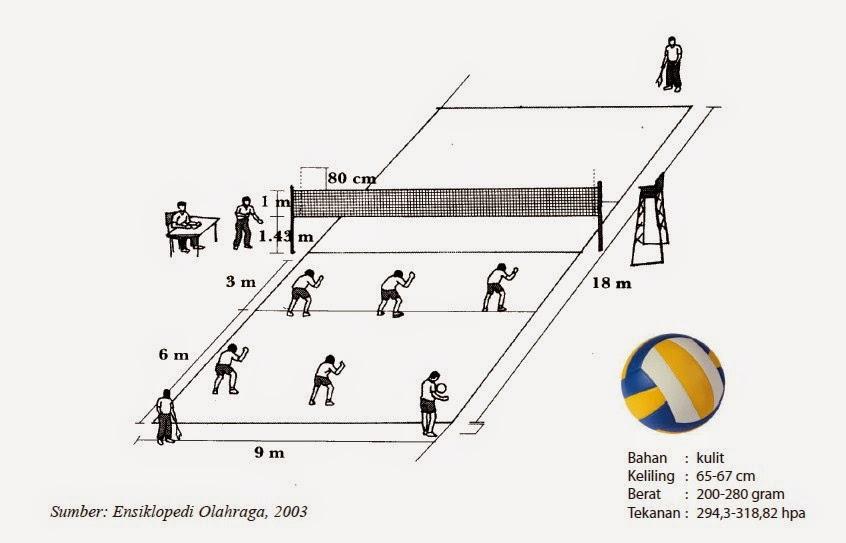 UUkuran Lapangan Bola Voli Standar Nasional Internasional
