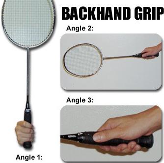 Cara Memegang Raket Backhand Grip Badminton