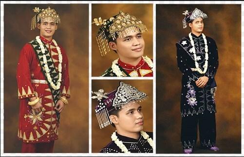 pakaian pengantin laki laki bangka balitung