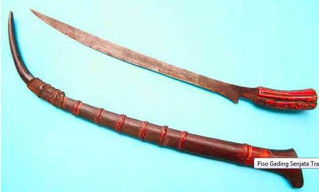 Senjata Tradisional Sumatera Utara piso gading