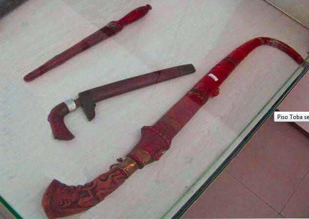 Senjata Tradisional Sumatera Utara piso toba