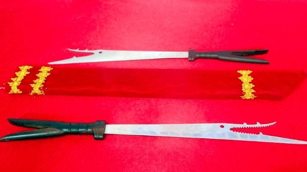 Senjata Tradisional pedang bara sangihe Sulawesi Utara